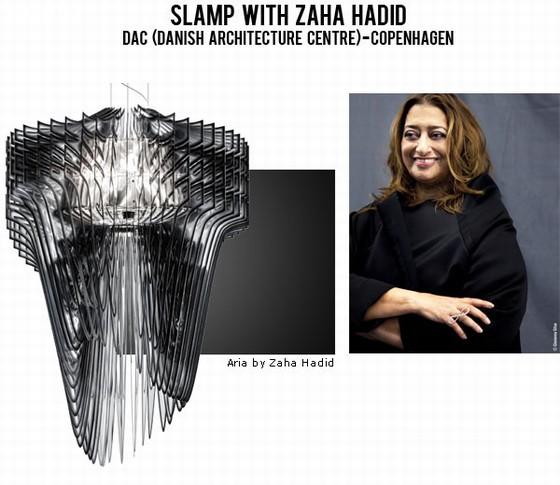 Slamp propone al DAC di Copenhagen le collezione Aria e Avia by Zaha Hadid